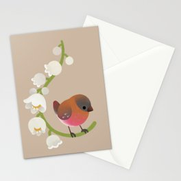 Brown-capped rosy finch Stationery Cards
