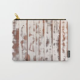 Rustic white wood. Shabby chic antique wooden texture. Carry-All Pouch
