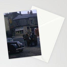 Vintage England * 1950's * Milk Cart * Delivery * Kodachrome * Horse * Car * Kiosk Stationery Cards