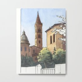 SAN DOMENICO, Bologna Travel Sketch by Frank-Joseph Metal Print