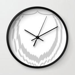 Christmas beard family holidays winter gift Wall Clock