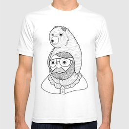 On how baby bears are often used as winter hats T-shirt