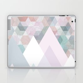 Pastel Graphic Winter Mountains on Geometry #abstractart Laptop & iPad Skin