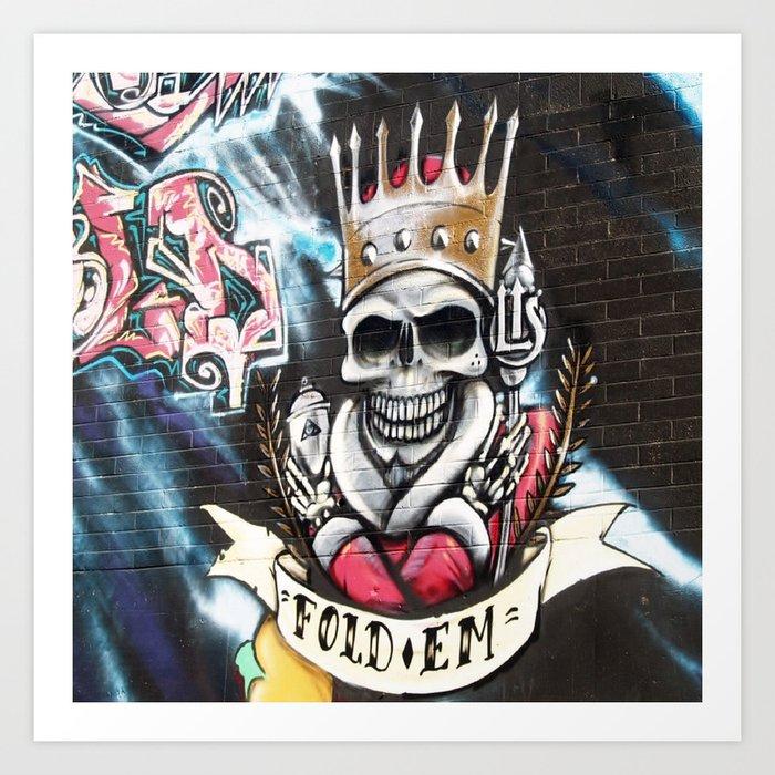 Las Vegas Skull Graffiti Art Print By Kimlawsonart Society6