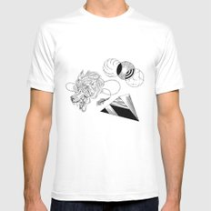 Wolfy MEDIUM Mens Fitted Tee White