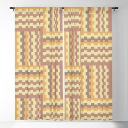 Geometric crisscross pattern Blackout Curtain