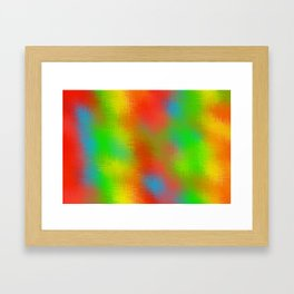 red yellow green and blue plaid texture Framed Art Print