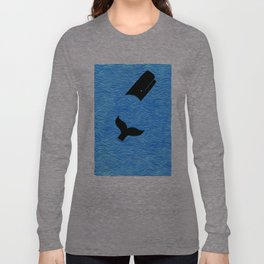 Whale in the Sea Long Sleeve T-shirt