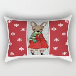 Winter Coat Rectangular Pillow