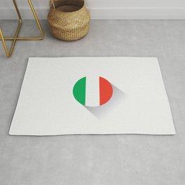 Minimal Italy Flag Rug