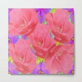 Pink Roses Eye Candy Metal Print