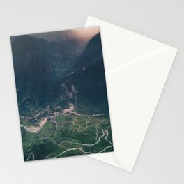 Mountainous town, Sa Pa, Vietnam Stationery Cards