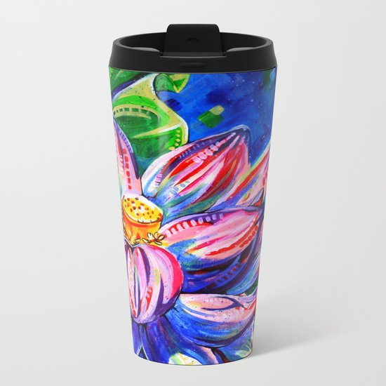 Lotus Metal Travel Mug