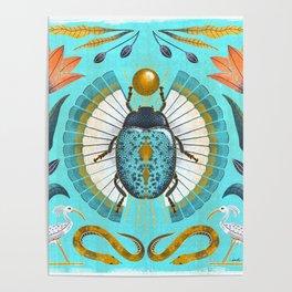 Egyptian Scarab Poster