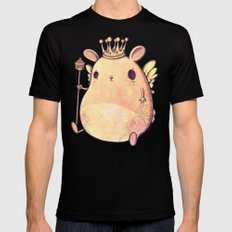 Prince Angel of Bunnyland SMALL Mens Fitted Tee Black