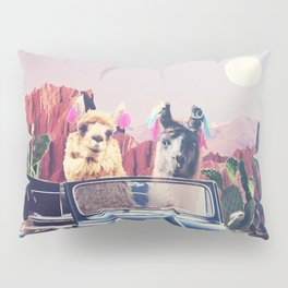 Llamas on the road Pillow Sham