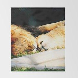 Cat Nap (Jungle Love) Throw Blanket