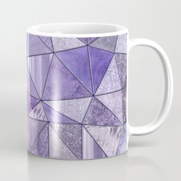 Purple Lilac Glamour Shiny Stained Glass Coffee Mug