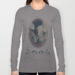 Astronaut and ice planet Long Sleeve T-shirt