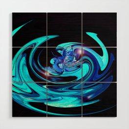 """Cut Blue Diamond""  Wood Wall Art"