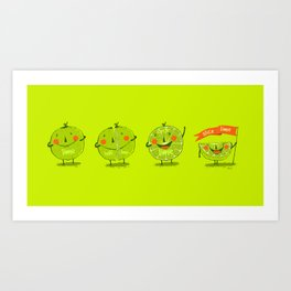 Lime emotions  Art Print