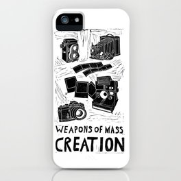 Weapons Of Mass Creation - Photography (blockprint) iPhone Case