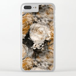 Tan Roses Clear iPhone Case