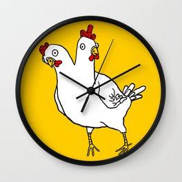 Chicken Dos Cabezas Wall Clock