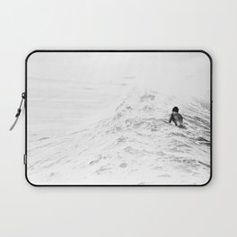 Waiting and Watching Surf Photo Laptop Sleeve