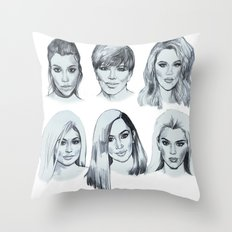 Keeping up 2 (Kardashians) Throw Pillow