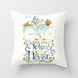 Like A Bicycle Throw Pillow