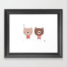 Christmas cute bears Framed Art Print