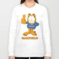 garfield Long Sleeve T-shirts featuring GARFIELD by Dano77