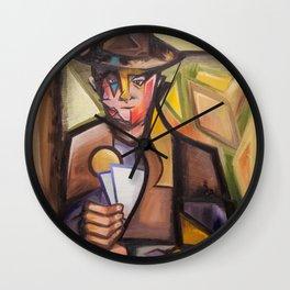 Der Kartenspieler Wall Clock