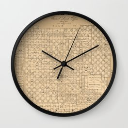 Map Of Lubbock 1892 Wall Clock
