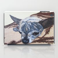 jack daniels iPad Cases featuring Jack by Amy Reber