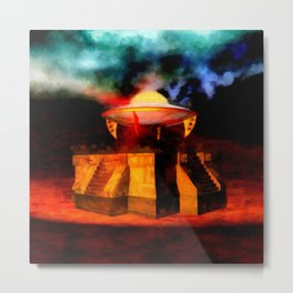 Ancient Landing Site by Raphael Terra Metal Print