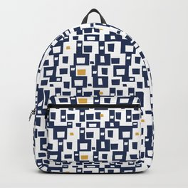 Navy Blocks Backpack