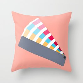 #28 Pantone Swatches Throw Pillow