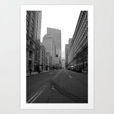 Boston streets Art Print