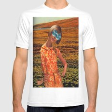 Her Eyes Towards the Sky MEDIUM White Mens Fitted Tee