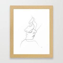 Close on white Gerahmter Kunstdruck