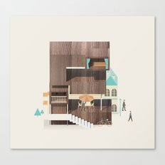 Resort Type - Letter E Canvas Print