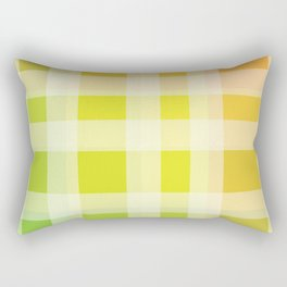 Green, Yellow, Orange Plaid Rectangular Pillow