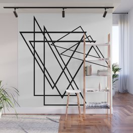abstract geometry triangles Wall Mural