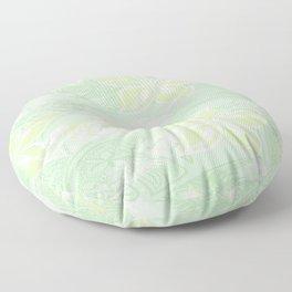 Green Watercolor Hibiscus Jungle Print Floor Pillow