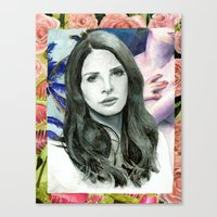 ultraviolence Canvas Prints featuring ULTRAVIOLENCE by Jethro Lacson
