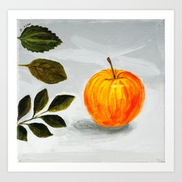 Apple and Leaves Art Print