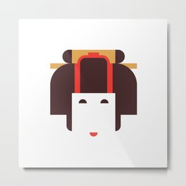 Japan Noble Woman Metal Print
