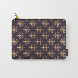 Gold Snowflakes 9 Carry-All Pouch